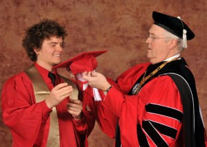 Garik Sadovy '12 and Chancellor Randy Woodson