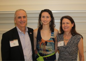 Mark, Lauren '13, and Linda Cagley at the Park Class of 2013 Senior Gala