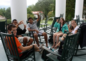 Members of the Park Class of 2016 on their First-Year Retreat in the Blue Ridge Mountains