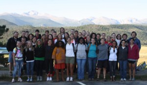 The Class of 2013 on their senior retreat in Rocky Mountain National Park.