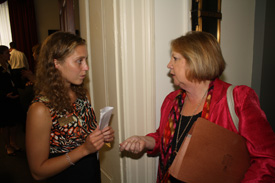 Margaret Leak '15 with Betsy Bossart, District Director, Office of U.S. Representative Steny Hoyer (D-MD) in the Cannon House Office Building.