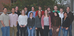 Brandon Carlisle (second row, second from left) with his colleagues from the W.M. Keck FT-ICR-MS Laboratory.