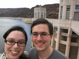 Ben Darnell '02 and girlfriend Juliet Moser visiting the Hoover Dam