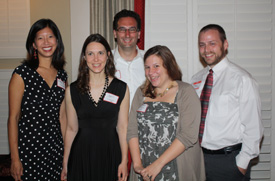 Members of the Class of 2000 — Michele Tam, April Wilson, Tommy Vitolo, Kelly Marks, and Terrell Russell (left to right) — at the Park Alumni Reunion Gala.