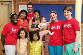 Enioluwafe Ojo '15, Stuart Bumgarner '14, Emily Bissett '14, and Austin Bath '15 hosted medical clinics in Santo Domingo, Ecuador