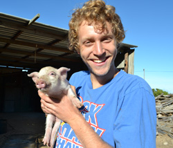 Jacob Rutz '14 worked on farms in the Western Cape region of South Africa during summer 2013