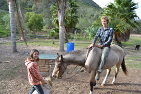 Jacob Rutz '14, participant in the Worldwide Opportunities on Organic Farms (WWOOF) program