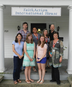 Emily Scotton '15 (bottom row, second from left) with members of the FaithAction International House team.