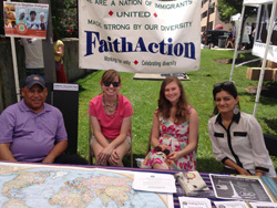 Emily Scotton '15 (second from left) with members of the FaithAction International House team.