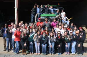 The Class of 2017 visits McLain Farms in Statesville, NC during Learning Lab I.