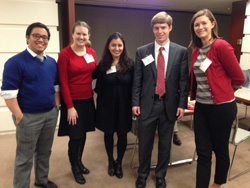 Remy Roque '06 with fellow Park Selection Committee members Maggie Linak '06, Yasmin Farahi '06, John Kelly '07, and Caitlin Meisenbach '07