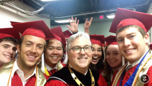 Members of the Park Class of 2014 with Chancellor Randy Woodson.