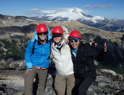 Kat Griffin '11 (right) mountaineering in Patagonia as part of an Outward Bound expedition