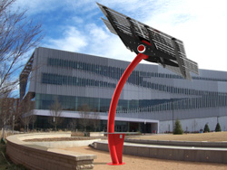 Rendering of the solar flora sculpture the Class of 2015 plans to install on Centennial Campus.