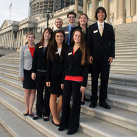 The Class of 2017 Learning Lab II Committee on the U.S. Capitol steps.