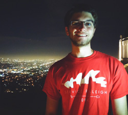 Mark DeMaria '17 at the Griffith Observatory in Los Angeles, Calif. - summer 2014