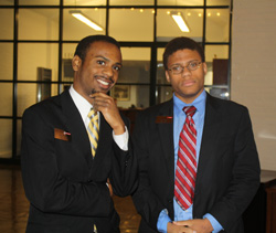 Jalen Feaster '16 (left) and Carl Smith '16 in Washington, D.C. for the Park Class of 2016 Learning Lab II – October 2013