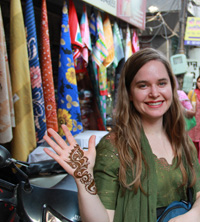 Lindsey Robinson '08 in India for a wedding