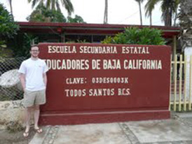 Ian Hill '13 during a recent service experience in Mexico.