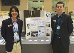 Alex Kim '17 and Alex Brown '17 present their project, Musical Empowerment at NC State - CGI U 2015