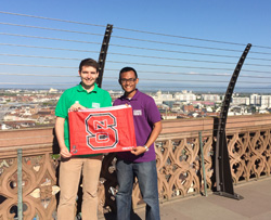 Ryan King '15 and Taufik Raharjo '16 representing NC State at the AC21 Student World Forum - April 2015