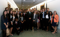 The Class of 2018 gathered with the US Senator Thom Tillis of North Carolina, one of their Learning Lab II speakers, at the Dirksen Senate Office Building.