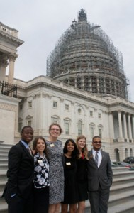The Class of 2018 Learning Lab II Committee on the U.S. Capitol steps.
