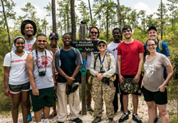 Belize Experiential Learning Trip 2015 participants with Belize National Zoo staff