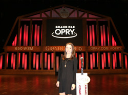 Amanda Cannon '17 during her internship at the Grand Ole Opry