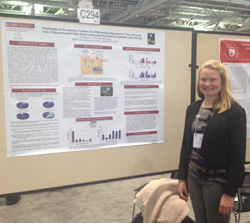 Leanne Nieforth '16 presenting her research at the 2015 Experimental Biology conference in Boston