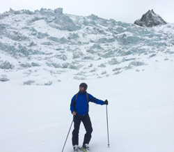 Ryan Thompson '06 skiing in Chamonix Mont Blanc