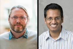 Luke Zettlemoyer '00 – Photo © University of Washington (left) and Milind Kulkarni '02 – Photo © Purdue University