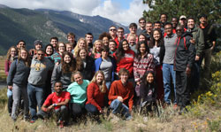 The Park Class of 2016 on senior retreat in Colorado's Rocky Mountain National Park - September 2015