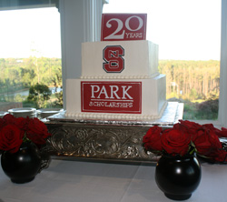 sPark 2016 participants celebrated with a 20th anniversary cake designed by Kim (Bell) Bloomfield '02