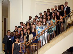 Members of the Park Class of 2016 at the Dorothy and Roy Park Alumni Center for their Senior Gala - May 2016