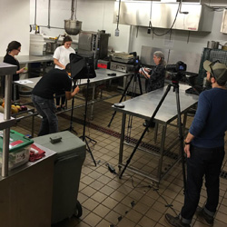 Filming of the knife skills videos in an industrial kitchen – Spring 2016