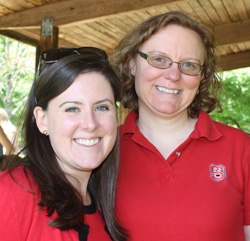 Natalie Cooke '10 and Associate Professor of Nutrition Suzie Goodell at a Park Scholarships social – Spring 2015