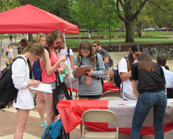 Hundreds of students registered to become bone marrow donors during a Park Scholar-coordinated drive on NC State's campus – Spring 2015