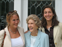 Dorothy Dent Park (center), then-president of the Park Foundation Board of Trustees, attends the 2006 opening of the Dorothy and Roy Park Alumni Center. Pictured with her are her daughter, Adelaide Park Gomer (left), and granddaughter Alicia Park Wittink (right), also Park Foundation trustees.