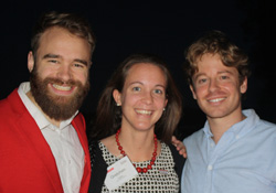 Brian Gaudio '13 (right) with classmates Ric Chapman '13 and Gretchen Stokes '13 during sPark 2016