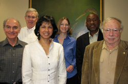 Dr. Gerald Elkan (right) with fellow Park Faculty Scholars in 2009