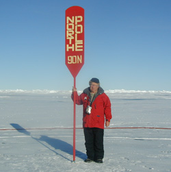 In 2001, Dr. Gerald Elkan traveled to the North Pole on a Russian nuclear icebreaker ship leased to New York's Museum of Natural History.