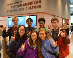 Members of the Class of 2019 visited the Smithsonian's new National Museum of African American History and Culture