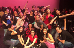 Ashley Lawson '18 (front center) serves as director of The Production, a hip-hop crew at NC State.