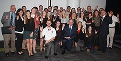 William C. Friday Award recipient Tom Ross (front center) with members of the Park Class of 2017