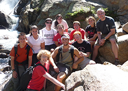 Elliott Welton '12 (center) with Park classmates during their senior retreat in Rocky Mountain National Park - Fall 2011