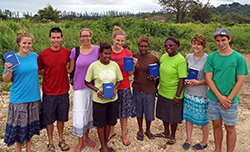Daniel Snyder '12 (second from left) with his Youth With A Mission team and translators in Vanuatu - 2013