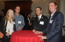 Mark Voelker '02 (second from right), along with Jennifer Morgan '02, Jake Morgan, and Dan Amerson '01, joined the Park Foundation Trustees for a champagne reception celebrating the Park Scholarships 20th anniversary - September 2016
