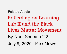 """Read related article: """"Reflecting on Learning Lab II and the Black Lives Matter Movement"""" at https://park.ncsu.edu/reflecting-on-llii/"""