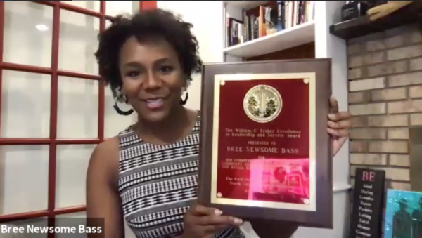 Bree Newsome Bass receives William C. Friday Award